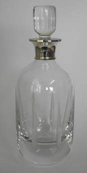 Baccarat Decanter from L J Millington Silversmiths Birmingham West Midlands UK