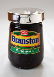 Branston Pickle - Silver Lid from L J Millington Silversmiths Birmingham West Midlands UK