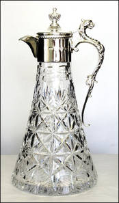 Claret Jug - Lighthouse - Silver Lion's Head Handle from L J Millington Silversmiths Birmingham West Midlands UK