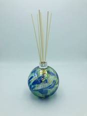 Glass Diffuser Blue and Green with Silver Mount from L J Millington Silversmiths Birmingham West Midlands UK