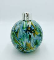 Glass Diffuser Blue and Green Marble with Silver Mount from L J Millington Silversmiths Birmingham West Midlands UK