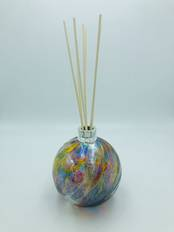 NEW Glass Diffuser Purple, Blue and Gold with Silver Mount from L J Millington Silversmiths Birmingham West Midlands UK