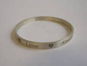 Love Heart Bangle from L J Millington Silversmiths Birmingham West Midlands UK