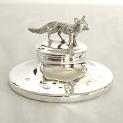 Paperweight with Fox from L J Millington Silversmiths Birmingham West Midlands UK