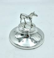 Paperweight with Horse from L J Millington Silversmiths Birmingham West Midlands UK