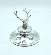 Paperweight with Stag from L J Millington Silversmiths Birmingham West Midlands UK