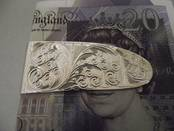 Game Sidelock Money Clip from L J Millington Silversmiths Birmingham West Midlands UK